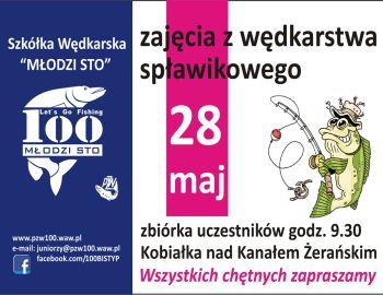 Szkółka Wędkarska ,,Młodzi Sto,,  zajęcia z wędkarstwa spławikowego